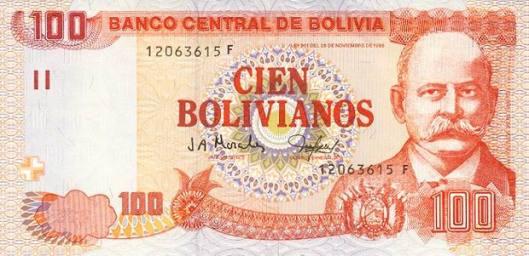 bolivian obverse 100